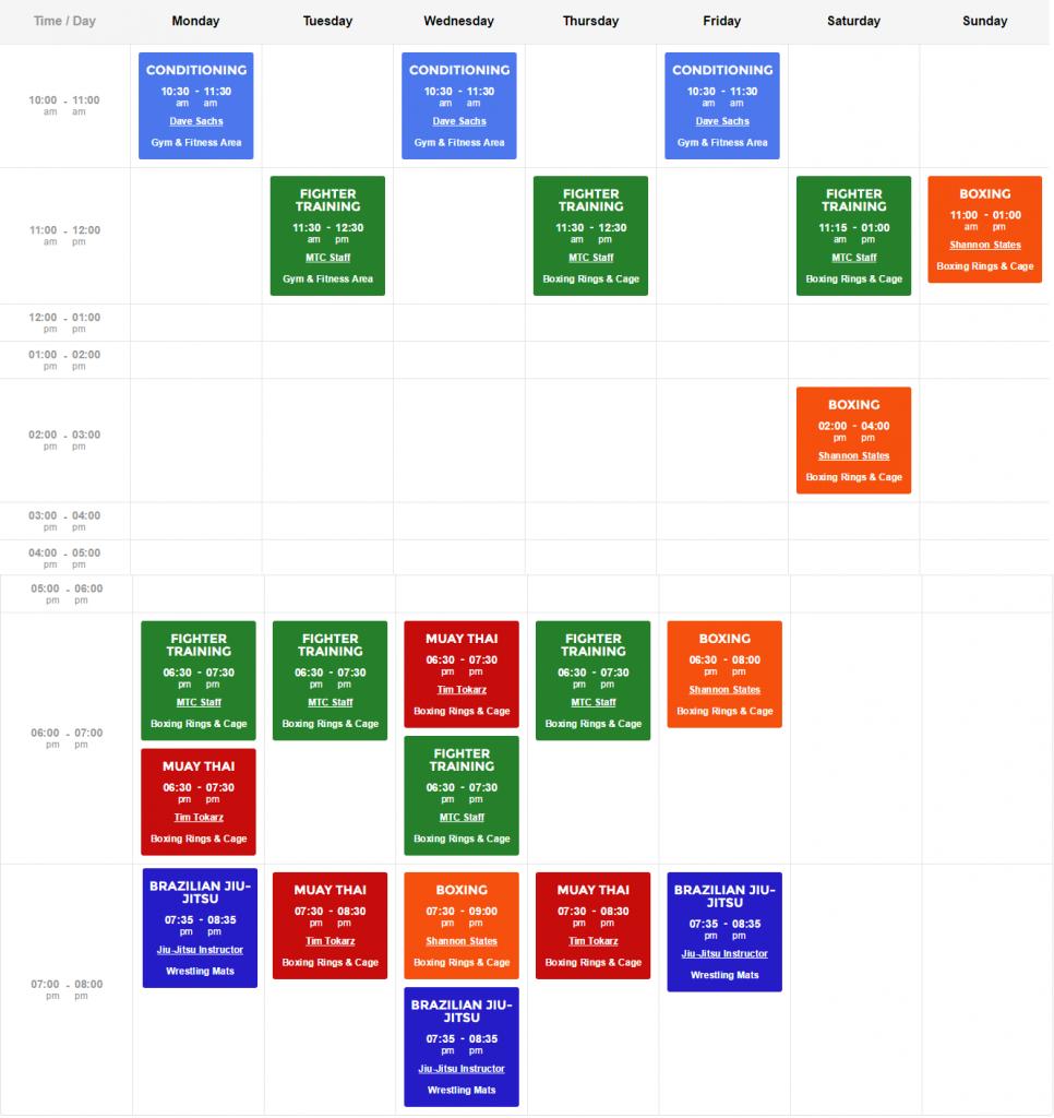 MTC Updated Schedule
