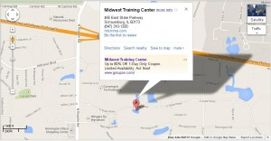 Map to Midwest Training Center 455 E State Pkwy Schaumburg IL